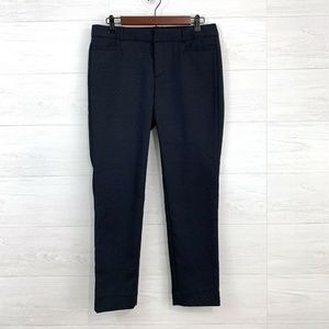 Banana Republic Sloan Fit Flat Front Navy Trouser
